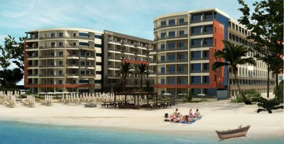 Baron Beach Resort. Apartments in a residential complex on the first coastline. Own beach. Swimming pools. Hurghada.